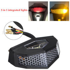 LED Motorcycle Turn Signals Tail Light Cafe Racer Fender Brake License Plate