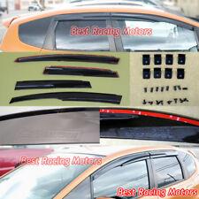 Mu-gen Style Side Window Visors + Clips Fits 09-14 Honda Fit
