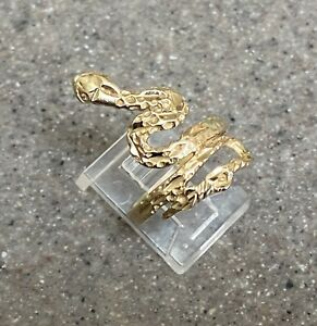 Vintage 14K Yellow Gold Snake Ring By Michael Anthony