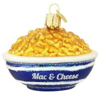 Bowl Of Mac And Cheese Glass Ornament Xmas Funny Food Holiday Glass Gift