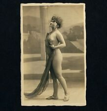NUDE WOMAN IN CLASSICAL POSE / KLASSISCHES AKTFOTO * Vintage 20s French Photo PC