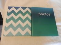 "Pair of Green Slip-In Photo Albums Holds 76 photos each up 4"" x 6"" photos"