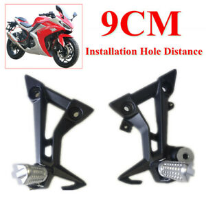 2x Left/Right Motorcycle Rear Foot Pegs Rest Pedal Pads Foot Bracket Shift Lever