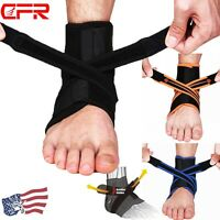 Ankle Support Brace Plantar Fasciitis Breathable Band For Pain Fitness Work DD