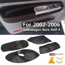 4Pcs Microfibre Leather Door Panel Armrest Cover For VVW Bora Golf 4 2002 -