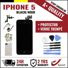 A+ LCD SCREEN SCHERM ÉCRAN ASSEMBLY BLACK NOIR +TOOLS&VERRE TREMPÉ FOR IPHONE 5