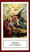 SANTINO - HOLY CARD- IMAGE PIEUSE - Heiligenbild TRANSITO DI S.GIUSEPPE - RARO
