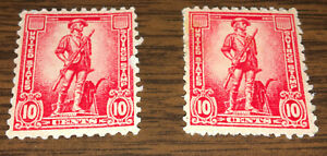 Lot of two (2) United States Savings stamps, 10 cents, Minuteman, fine/very fine