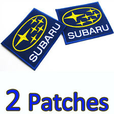 2 Patches SUBARU Embroidered Iron On Patch Motorsport Racing Applique Craft DIY