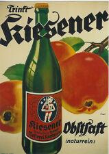 Original Plakat - Kiesener Obstsaft