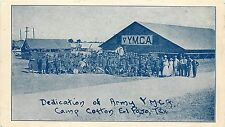 Pledge card Boston war work Dedication of Army YMCA Camp Cotton El Paso Texas TX
