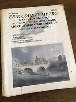 1996 Large Scale Street Atlas Five County Metro Philadelphia Pennsylvania