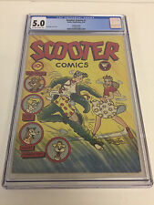 Scooter Comics #1 Rucker Pub 1946 Canadian Edition Cgc 5.0 Ow/W