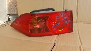 Honda Accord Acura TSX TAILLIGHT BOOTLID LEFT OUTER 2006-2008 MK7 BROKEN GENUINE