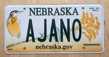 "GRAPHIC BIRD VANITY LICENSE PLATE "" A JANO ""  AJANO  A JAN O"
