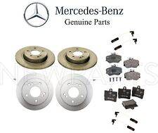 Mercedes W202 C230 Set of Front & Rear Brake Disc Rotors with Pads & Sensors OES