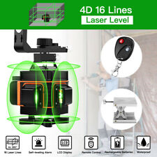 4D 16 Lines 360° Self-Leveling Green Laser Level Horizontal Vertical Cross Tool