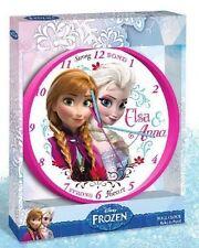 Disney Frozen Die Eiskönigin Wanduhr Uhr Kinderzimmer Kinder Zimmer Anna & Elsa