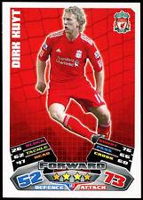 Dirk Kuyt Liverpool Match Attax #142 Topps fútbol 2011-12 tarjeta de comercio (C208)