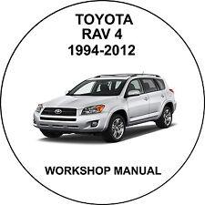 Toyota Rav 4 1994-2012 Workshop Service Repair Manual