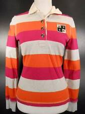 Warm Women's XS Tommy Hilfiger Multi-Color Striped Long Sleeve Polo Shirt GUC