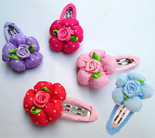 10PCS Flower Pet Dog Hair Bows Clips Accessories Hairpins Grooming Bowknot lot