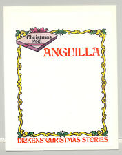 Anguilla 1983 Christmas 1v Imperf Proof of M/S Background Mounted on card