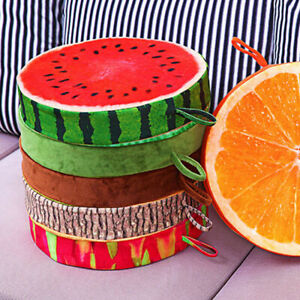 3D Print Seat Pads Round Funny Fruit Chair Cushions Garden Dining Outdoor UK