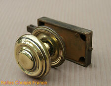 Antique Rare french iron door lock handle with gold copper round handle