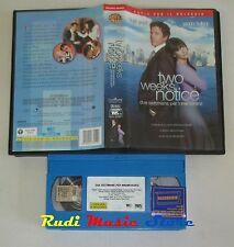 film VHS TWO WEEKS NOTICE H. Grant S. Bullock 2003 Univideo   (F3*)  no dvd