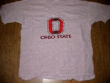 OHIO STATE large T shirt Buckeyes OSU retro striped Columbus University O logo