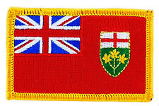 FLAG PATCH PATCHES ontario  PROVINCIAL IRON ON EMBROIDERED SMALL CANADA
