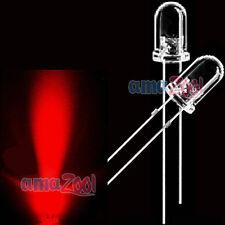 1000pcs 3mm red Round top LED Superbright Light 2pin led 5000MCD