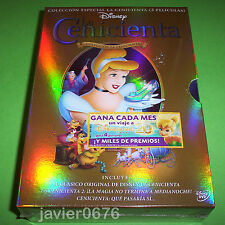 LA CENICIENTA DISNEY COLECCION ESPECIAL 3 PELICULAS DVD PACK NUEVO Y PRECINTADO