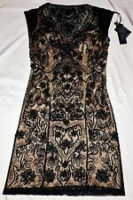 Sue Wong robe style N1119 Noir/Nude Superbe embriodered dress UK 8/10 * Bnwt *