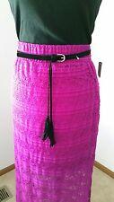 NWT No Boundries Size XL (15-17) Orchid Lace Tassel Belt Maxi Skirt+Bonus Tank