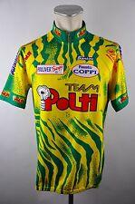 Santini Team Polti vintage cycling jersey maglia Rad Trikot Gr. XXXL 58cm 25D