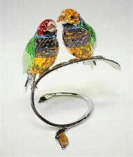 Swarovski Crystal Gouldian Finches Peridot #1141675 W/Original Box