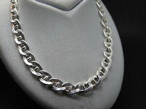 Halb-hohle dicke Silber .925 Stäbchenankerkette 50 cm * 0.85 cm neuwertig