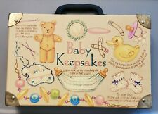 """Vintage Baby Keepsakes Suitcase 12"""" X 8"""" X 3"""" With 5 Boxes Inside"""