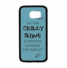 Crazy Aunt Turqouise for Samsung Galaxy S6 i9700 Case Cover