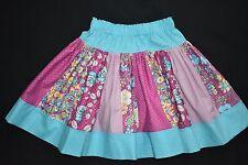 Girl's blue and purple stripe skirt, size 4- handmade