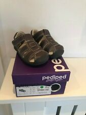 Pediped Grip N Go unisex Sydney Sandalo Choc Brown UK 3.5 neonato EU19 NUOVO con scatola £ 34.00