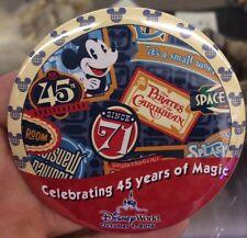 Walt Disney World Magic Kingdom 45th Anniversary Button CHRISTMAS  WEEK SALE!!!