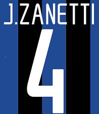 Inter Milan Zanetti Nameset Shirt Soccer Number Letter Heat Print Football H 02
