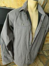 NWT Mens Cloumbia Holland Peak Shirt Jacket Large L Gray Snap Front MSRP 110.00
