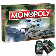 Monopoly Bundeswehr soldados juego sociedad juego juego de mesa + Cuarteto
