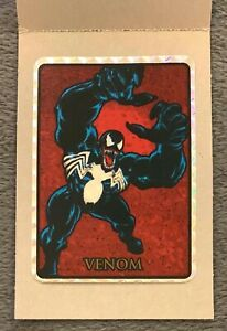 1992 Marvel Masterpieces VENOM Vending Prism Sticker Card Black Border Rare!