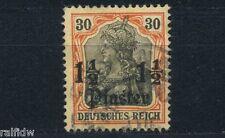DP Türkei 1 1/2Pia/30Pfg. Germania 1905 Aufdruckfehler Michel 28 I Attest (S9117