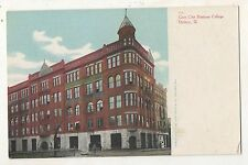 Gem City Business College, QUINCY IL Illinois UDB Postcard
